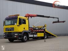 camion MAN 18.240 16TM Kraan, Kran, Crane - 5T. Schuifplateau, Schiebplateu - Hubbrille - Lier, Winde
