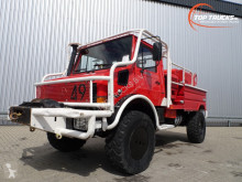 شاحنة Unimog MB U1550 L37 - (437) Fire Truck - Lier, Winch, Winde - Watertank - Pomp - Dingo Achsen! - Expeditievoertuig مطافئ مستعمل