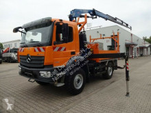 camion Mercedes 1324 Atego 4x4 Pritsche+FASSI 110 4xhydr. Funk