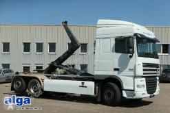 Kamión vozidlo s hákovým nosičom kontajnerov DAF XF105.460 6x2, Gergen, Euro 5, klima, gelenkt