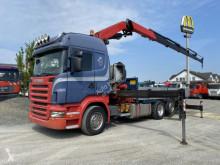 Camion Scania R Scania R 480 Kran Fassi F450BXP plateau ridelles occasion