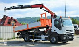 Camion Iveco STRALIS 310 EEV Kipper 5,20m+Kran/FUNK*Topzustan ribaltabile usato