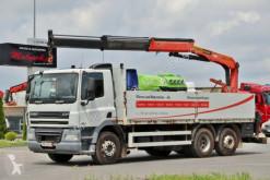 camion DAF CF 85.410/6X2/BOX+CRANE PALFINGER PK15001/RADIO
