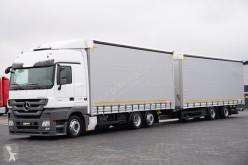 ciężarówka z przyczepą firanka używana