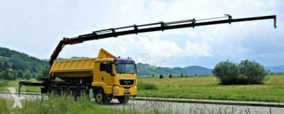 Camion MAN TGS Kipper 5,60m +Kran/FUNK 8x4 Topzustand! plateau occasion