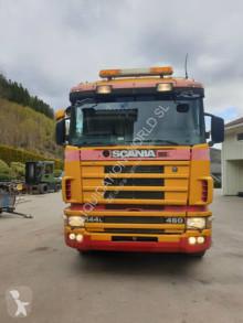 camion Scania 144 LB 460cv 6x2 Asphalt transposer tipper
