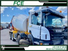 Scania P 410 truck damaged concrete mixer
