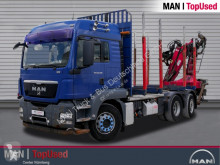 Camión maderero MAN TGS 26.480 6X2-2 LL mit Ladekran PENZ 10 Z