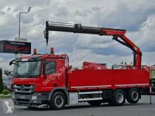 Camion plateau occasion Mercedes ACTROS 2641/6x2/CRANE PALFINGER PK18002 / RADIO