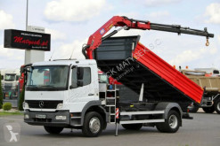 Mercedes flatbed truck ATEGO 1524 /3 SIDED KIPPER + CRANE HMF 635/RADIO