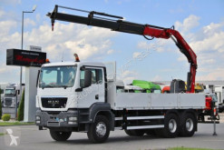 MAN TGS 26.360/ 6X4/ BOX + CRANE FASSI F190 / truck used flatbed