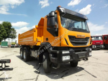 Iveco three-way side tipper truck Trakker AD260T41W 6x6 E6 manuell Meiller Klima
