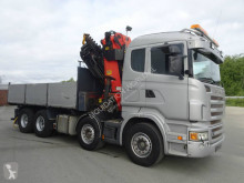 Palfinger Scania R470 CB 8x4 with crane PK56002 truck used dropside