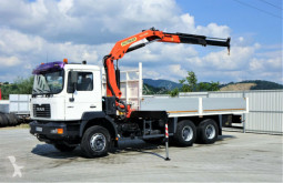 Camion platformă second-hand MAN FE 27-314 Pritsche 6,40 m+Kran*6x4*Topzustand!