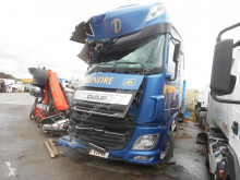 DAF XF105 460 truck damaged tautliner