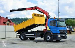 Ciężarówka wywrotka używana Mercedes Axor 1828 Kipper 4,20m + Kran *Topzustand