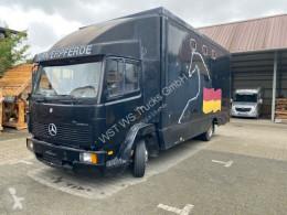 Kamyon hayvan kamyonu ikinci el araç Mercedes 814 Blatt / Blatt 6 Zylinder Pferde Aufbau