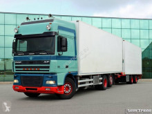 Camión remolque frigorífico DAF FAR XF95.480 EURO 3 6X2 MANUAL RETARDER ANALOGUE TACHO