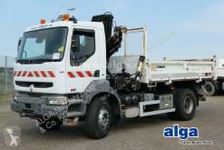 Camion ribaltabile trilaterale Renault Kerax 320 DCI 4x2, Kran Hiab 140A, AHK,Bordmatik