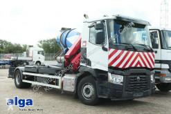 Camion multibenne Renault C 380, Kran HMF 1530 K2, Funk, Greifersteuerung