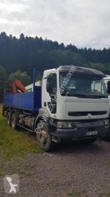 Camion plateau ridelles Renault Kerax 370.26 (6X4)