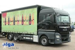 Lastbil med släp flexibla skjutbara sidoväggar skjutbart presenningssystem MAN TGX 26.480 TGX LL 6x2,Pritsche Plane,LBW, Kompl. Zug
