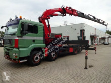 MAN 35.480 Pritsche Cont.Ver.+FASSI 600 6xhydr. Funk truck used dropside