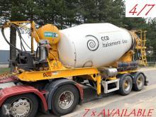 Rimorchio MOL 7x (4/7) LT AUTOMIX AM 10m³ - BELGISCHE PAPIEREN / PAPIERS BELGES - 2 AS BPW - LUCHTVERING - IMER AUTOMIX rotore / Mescolatore usato