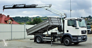 Camion MAN TGM 15.250 Kipper 3,50 m+KRAN !!! benne occasion
