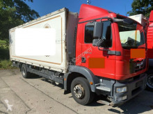 Camión caja abierta transporte de bebidas usado MAN TGM 12/15.290 LL Getränkekoffer LBW