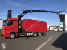 Camion plateau ridelles Mercedes Actros 2543 L 6x2 Koffer+LBW+Kran+Fly-Jib+Winde