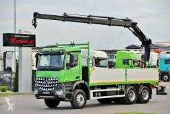 Camion plateau occasion Mercedes AROCS 2636 / 6X4 / CRANE HIAB 144/ RADIO/ EURO 6