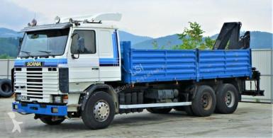 Scania billenőkocsi teherautó R 143*Kipper 6,30m +Kran*6x4!!!