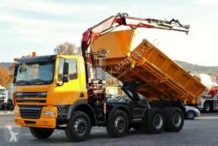 camion DAF CF 85.410/8X4/2 SIDED TIPPER/CRANE FASSI F135/