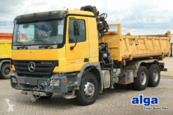 Camion benne occasion Mercedes 3341 6x4 Actros/Kran Hiab 102B/Bordmatik/AHK/