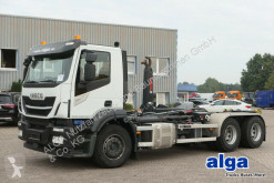 Camion multibenne occasion Iveco AD260SY/PT, Motorschaden, Loch, Hiab XR21S63