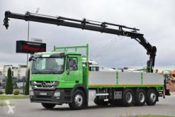 Mercedes ACTROS 3236/8x4/BOX 7,7M+CRANE HIAB 166 / RADIO truck used flatbed