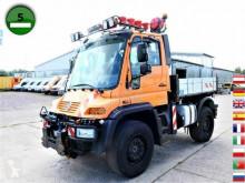 Unimog U400 405/12 KLIMA AHK MULAG Frontmäher MRF 300 truck used dropside