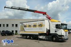 Camion cu prelata si obloane Scania R440LB 6x2 4HNA, Kran HMF 2220K4, Pritsche, LBW