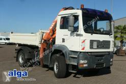 Camión volquete volquete trilateral usado MAN 18.430 TGA BB 4x2, gr. Atlas 170.2 Kran, Meiller