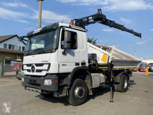 Mercedes three-way side tipper truck Actros Hiab122