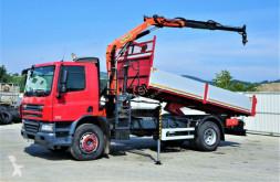 Camion plateau occasion DAF CF 75.310 *Kipper 5,20 + Kran*Topzustand!