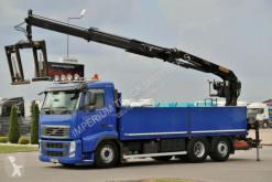 Camion plateau occasion Volvo FH 500 / 6X2 / BOX 6,75 M + CRANE PALFINGER PK21