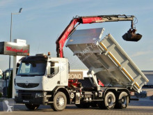 Camion plateau Renault LANDER 370/6X4/2 SIDED TIPPER+CRANE FASSI F150