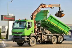 Ciężarówka Renault KERAX 370/ 2 SIDED KIPPER+ CRANE TEREX TLC 135 wywrotka używana
