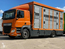 Camion van à chevaux occasion DAF CF 410 Menke Doppelstock , Hubdach