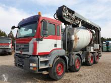 Camion béton toupie / Malaxeur occasion MAN TGA 35.400 8x4 STETTER 9 m3 + THEAM 14M+4M