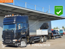 Camion remorque Scania R 164 plateau occasion