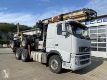 شاحنة مقطورة ناقلة خشب مستعمل Volvo FH 520 6x4 SZM Langholz Kran 8,7 m + Anhänger