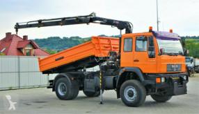 Camion MAN LE 18.280 Kipper 3,80 m+KRAN/FUNK*4x4! benne occasion